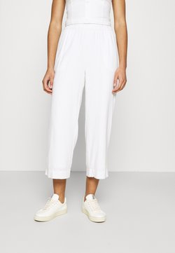 Abercrombie & Fitch - EVERYDAY PULL ON - Trousers - white