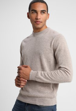Benetton - BASIC CREWNECK - Strikkegenser - beige