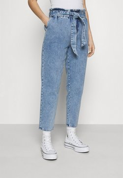 ONLY - ONLJANE PAPERBAG BELT - Jeans Relaxed Fit - light-blue denim