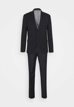 Calvin Klein Tailored - TONAL GRID CHECK EXTRAFINE SUIT - Anzug - navy