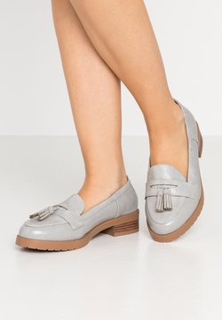 Dorothy Perkins Wide Fit - WIDE FIT LITTY PUTASSEL LOAFER - Slip-ons - grey