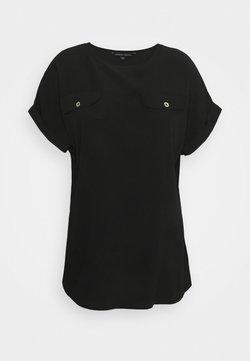 CAPSULE by Simply Be - UTILITY BOXY TOP - T-Shirt print - black