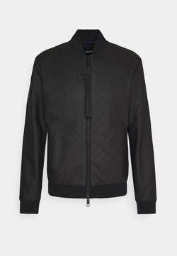 Antony Morato - COAT WITH EMBOSSED GEOMETRIC PATTERN - Giacca in similpelle - nero