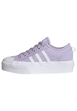 adidas Originals - NIZZA PLATFORM - Sneaker low - blipur/ftwwht/ftwwht