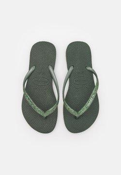 Havaianas - SLIM GLITTER - Teenslippers - green olive