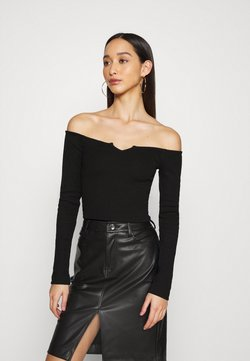 Nly by Nelly - OFF SHOULDER - Langarmshirt - black