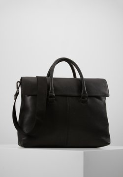 Zign - LEATHER UNISEX - Portfölj - black