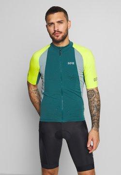 Gore Wear - PRO TRIKOT - T-Shirt print - dark nordic blue/citrus green