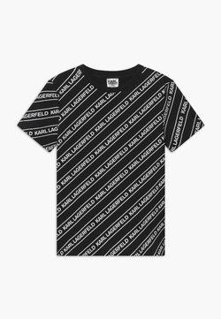 KARL LAGERFELD - T-shirt print - black/white
