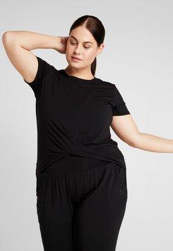 YOGA CURVES - TWISTED  - Camiseta básica - black