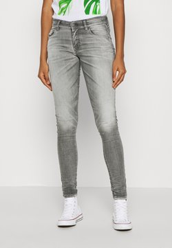 Diesel - SLANDY LOW - Jeans Skinny - grey
