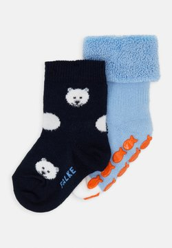 Falke - PENGUIN POLAR BEAR 2 PACK - Calcetines - steelblue/marine