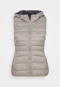 ONLY Petite - ONLNEWTAHOE QUILTED WAISTCOAT  - Smanicato - silver