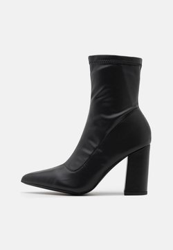 Missguided - POINTED TOE SOCK BOOT - Nilkkurit - black