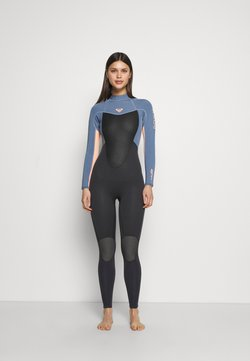Roxy - PROLOGUE WOMEN - Swimsuit - cloud black/powder dark grey/sunglow