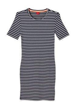 s.Oliver - JURK - Strickkleid - blue stripes