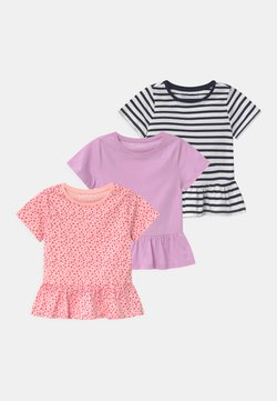 Friboo - 3 PACK - T-shirt print - pink/purple/black