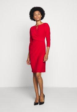 Lauren Ralph Lauren - MID WEIGHT DRESS TRIM - Vestido de tubo - orient red