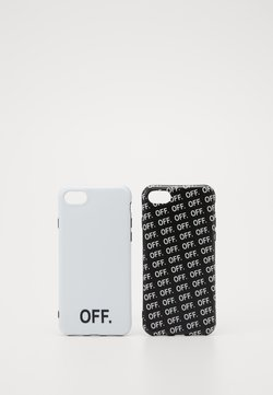 Urban Classics - OFF PHONE CASE SET - Etui na telefon - black/white