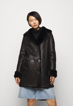 STUDIO ID - CAROLINE SHEARLING COAT - Mantel - black