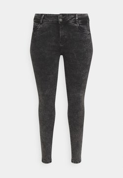 Noisy May Curve - NMAGNES BUTTON - Jeansy Skinny Fit - black denim