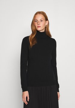 Benetton - TURTLE NECK - Strikkegenser - black