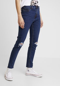 New Look - WOW KNEE RIP - Jeans Skinny Fit - mid blue