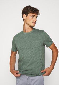 J.CREW - SLUB BARTLETT STRIPE TEE - T-shirt con stampa - baywood green
