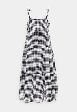 Seafolly - CHECK IN GINGHAM TIERED DRESS - Strandaccessoire - black