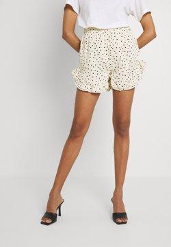 Missguided - SPOT FRILL HEM - Shorts - cream