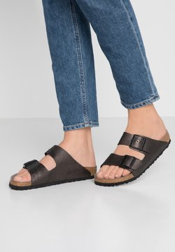 Birkenstock - ARIZONA - Tofflor & inneskor - washed metallic/antique black