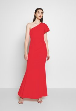 WAL G. - OFF THE SHOULDER LAYERD MAXI DRESS - Robe de cocktail - berry