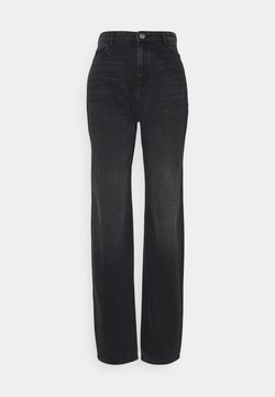 Noisy May Tall - NMBROOKE DAD - Straight leg jeans - black