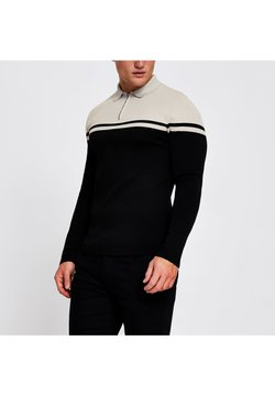 River Island - Strickpullover - black