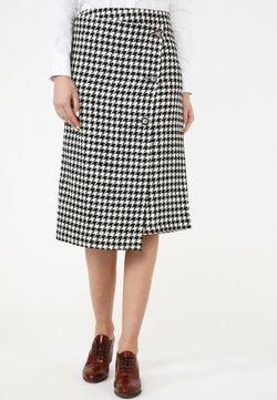 Madam-T - VIVIANA - Jupe portefeuille - weiß schwarz