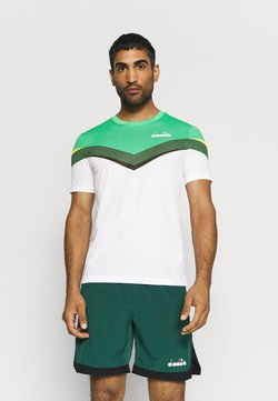Diadora - CLAY - T-Shirt print - holly green/white/bistro green