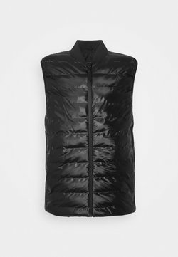 Rains - TREKKER VEST UNISEX - Smanicato - shiny black