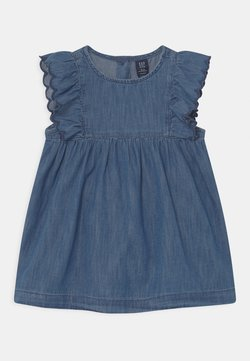 GAP - SCALLOP SET - Jeanskleid - ladybug union blue