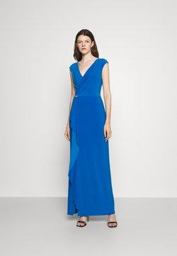 Lauren Ralph Lauren - RYDER CAP SLEEVE EVENING DRESS - Robe de cocktail - deep bondi blue