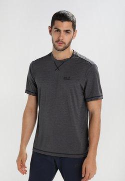 Jack Wolfskin - CROSSTRAIL MEN - T-Shirt basic - dark steel