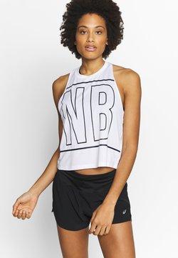 New Balance - PRINTED VELOCITY CROP TANK - Koszulka sportowa - white