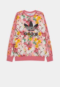 adidas Originals - FLORAL TREFOIL CREW JUMPER - Collegepaita - trace pink/multicolor/black