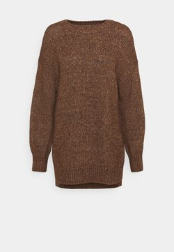Marc O'Polo - LONGSLEEVE ROUND NECK - Strickpullover - chestnut brown