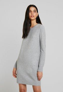 Vero Moda - VMDOFFY O-NECK DRESS - Vestido de punto - light grey melange