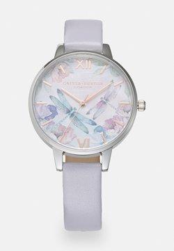 Olivia Burton - PAINTERLY PRINTS - Uhr - silver/white