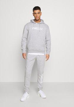 PARELLEX - LOUNGE HOOD LOUNGE TRACKSUIT SET - Sweatshirt - grey marl