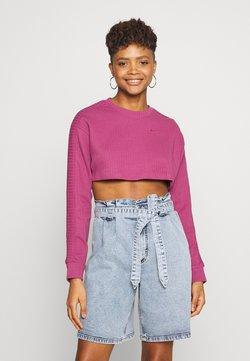 Nike Sportswear - CREW CROP - Felpa - mulberry rose