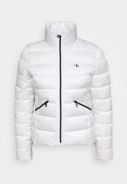 Calvin Klein Jeans - LOGO FITTED PUFFER - Winterjacke - bright white