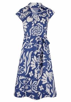 Boden - ROWENA  - Blusenkleid - gipfelblau/tropischer garten