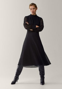 Massimo Dutti - MIT GUIPURE - Day dress - black